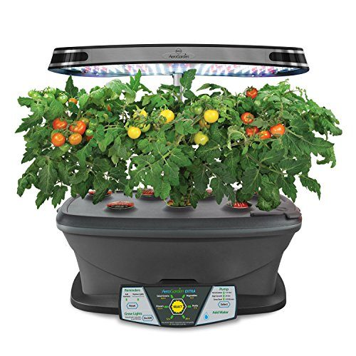 indoor herb garden kit aerogarden led with gourmet herb seed pod kit 28782
